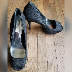Simply Vera Vera Wang Black Sequin Heels Stilettos